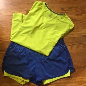 Danskin shirt and shorts